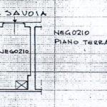 planimetria piano terra Via Savoia negozio